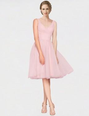 Shop Pink A-Line Long Kaelyn Bridesmaid Dress Canada
