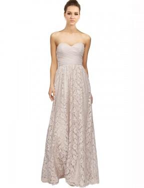 Shop Pink A-Line Long Leyla Bridesmaid Dress Canada