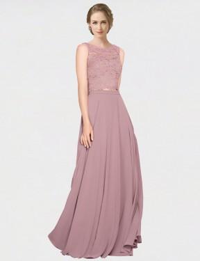 Shop Pink A-Line Long Rivka Bridesmaid Dress Canada