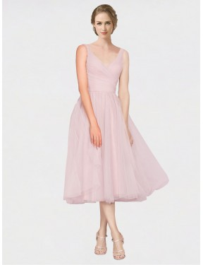Shop Pink A-Line Long Zaniyah Bridesmaid Dress Canada