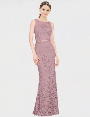 Shop Pink Mermaid Fit and Flare Long Calliope Bridesmaid Dress Canada