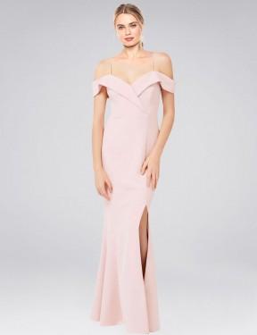 Shop Pink Mermaid Long Cronin Bridesmaid Dress Canada
