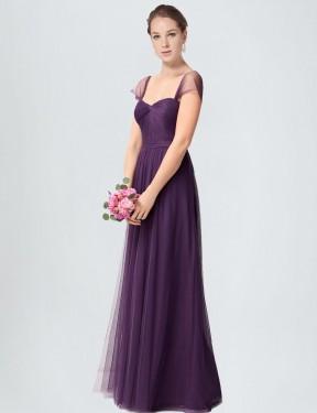 Shop Plum A-Line Long Julieta Bridesmaid Dress Canada