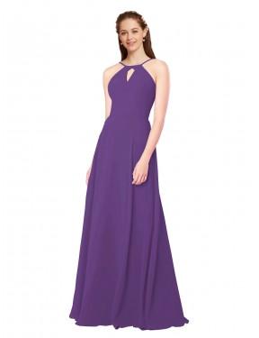 Shop Plum Purple Sheath Long Karlie Bridesmaid Dress Canada