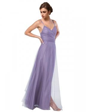 Shop Purple A-Line Long Rebekah Bridesmaid Dress Canada