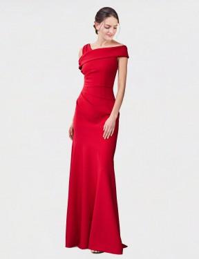 Shop Red Mermaid Long Nicola Bridesmaid Dress Canada
