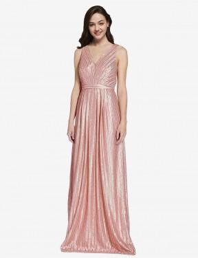 Shop Rose Gold Sheath Long Linden Bridesmaid Dress Canada