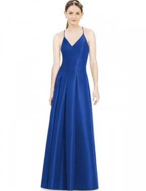 Shop Royal Blue A-Line Long Everleigh Bridesmaid Dress Canada