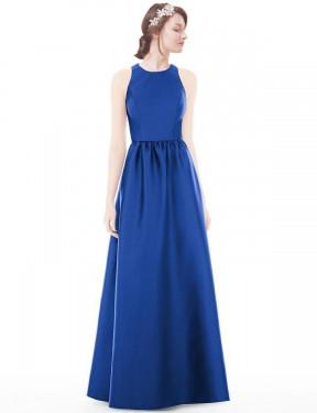 Shop Royal Blue A-Line Long Frida Bridesmaid Dress Canada