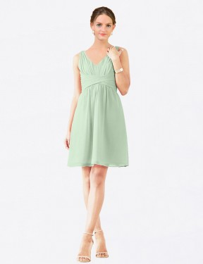 Shop Sage A-Line Short Grace Bridesmaid Dress Canada