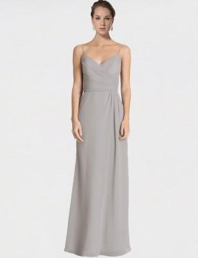 Shop Silver Sheath Long Jaelyn Bridesmaid Dress Canada