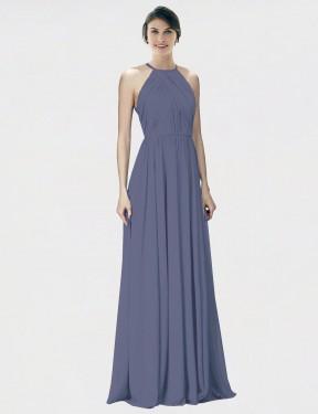 Shop Silver Stone A-Line Long Krystina Bridesmaid Dress Canada
