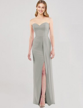 Shop Silver Trumpet Long Astride Bridesmaid Dress Canada
