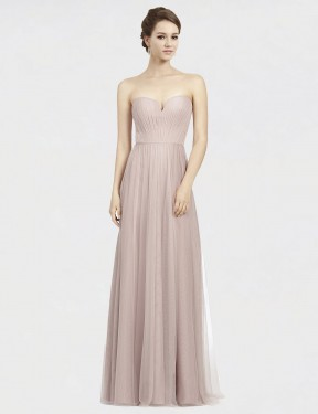 Shop Vintage Rose A-Line Long Siena Bridesmaid Dress Canada