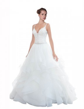 Shop White Ball Gown Long Journee Wedding Dress Canada