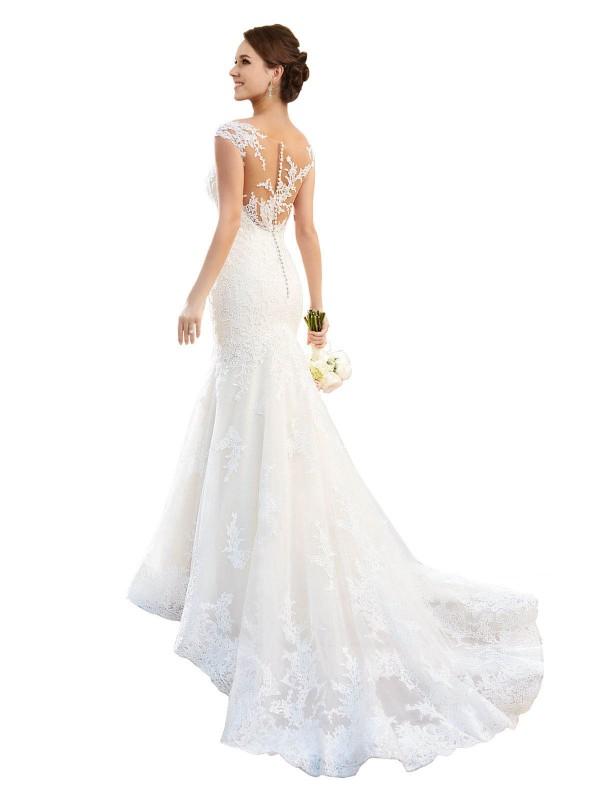 Shop White Mermaid Long Alivia Wedding Dress Canada