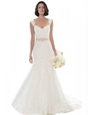 Shop White Mermaid Long Aniyah Wedding Dress Canada