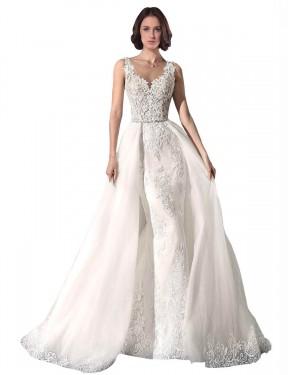Shop White Mermaid Long Cali Wedding Dress Canada