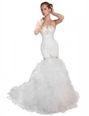 Shop White Mermaid Long Kamila Wedding Dress Canada