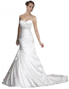 Shop White Mermaid Long Nyla Wedding Dress Canada