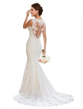 Shop White Mermaid Long Wedding Dress Canada