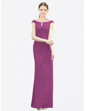 Shop Wild Berry Mermaid Fit and Flare Long Emilee Bridesmaid Dress Canada