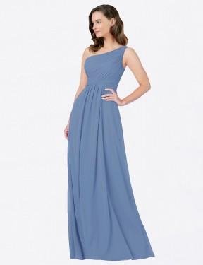 Shop Windsor Blue Sheath Long Stephane Bridesmaid Dress Canada